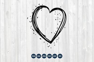 Heart SVG. Valentine Day SVG. Heart Frame SVG Monogram frame