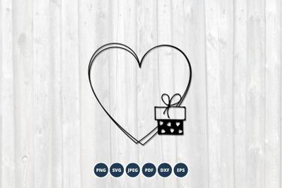 Heart frame svg. Love border Svg. Valentine's Day Svg.