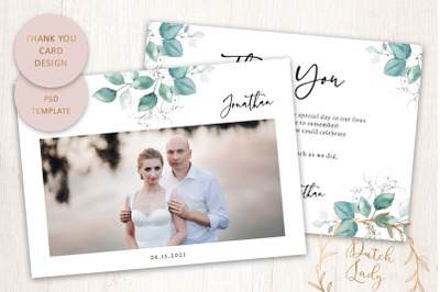 PSD Thank You Photo Card Template #1