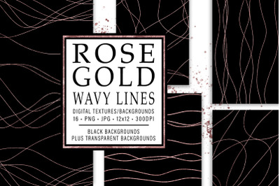Rose Gold Wavy Lines
