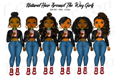Around The Way Girls Clipart Black Woman Clipart PNG