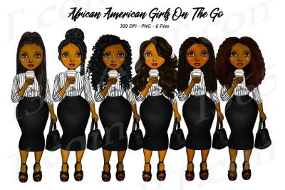 Natural Hair Girl Boss Clipart Black Woman Clipart Fashion PNG