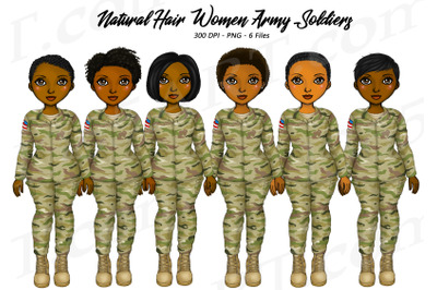 Black Woman Soldiers Clipart Army Veterans PNG
