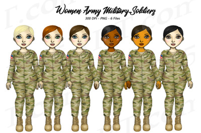 Woman Soldiers Clipart Female Army Veterans PNG