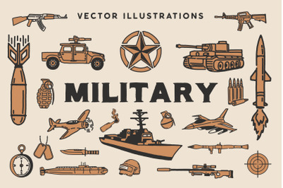 Military Vector Illustrations