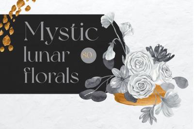Mystic Lunar Florals Watercolor Collection