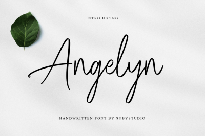 Angelyn - Handwritten Font