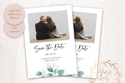 PSD Save The Date Photo Card #1
