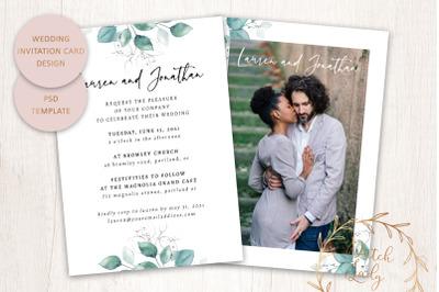 PSD Wedding Invitation Template #1