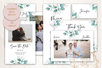 PSD Wedding Suite Design #1