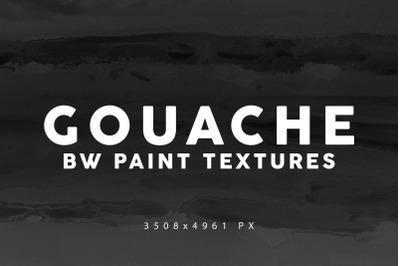 Black&White Gouache Textures