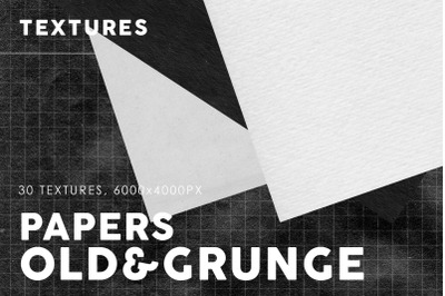 Old Black&White Paper Textures