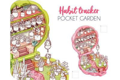 Habit tracker pocket garden- mensile