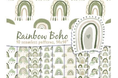 Boho Rainbow Digital Paper Neutral