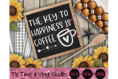 Coffee Svg, Coffee Bar, The Key To Happiness Is Coffee, Coffee Obsesse