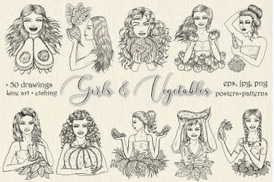 Girls and Vegetables