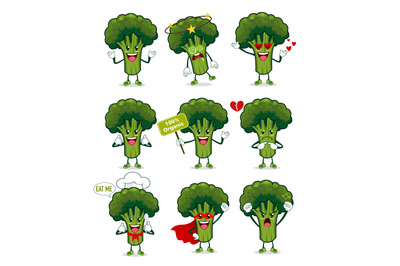 brocoli mascot cartoon