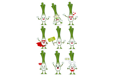 spring onion mascot cartoon