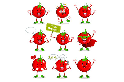 tomato mascot cartoon