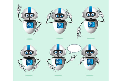 robot mascot cartoon