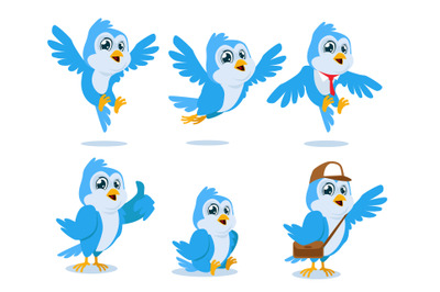 blue bird mascot cartoon