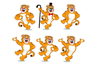 tiger mascot cartoon