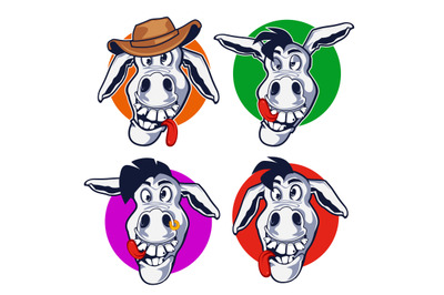 donkey mascot cartoon