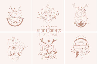 MAGIC MOON  22 LOGO TEMPLATES