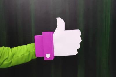 DIY Thumbs Up - 3d papercraft