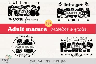 Adult mature funny valentines quotes.