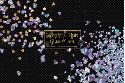 Holographic Heart Glitter