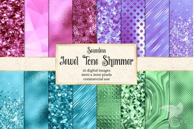Jewel Tone Shimmer Digital Paper