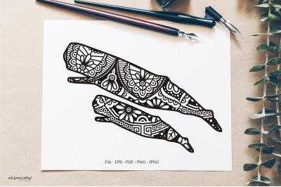 Animal Vector Mandala Line Art Style