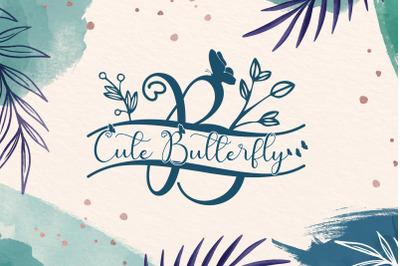 Cute Butterfly Monogram