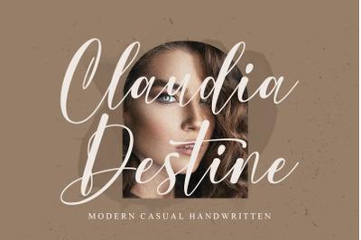 Claudia Destine - Modern Casual Handwritten