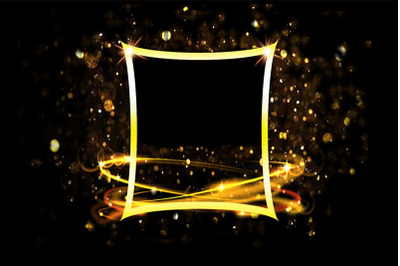 Golden Sparkling Frame Background
