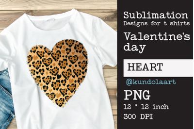 Leopard Heart Love PNG, Valentines day sublimation