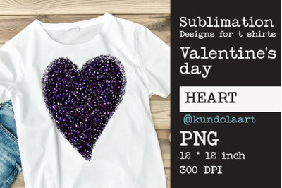 Heart sign of love. PNG file for sublimation. Valentine's Day