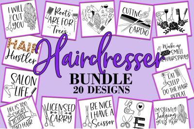 Hairdresser Bundle SVG Hair Salon Design Bundle