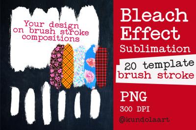 Brush Strokes Bleach Effect