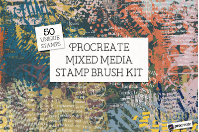 Mixed Media Procreate Stamp Brushes