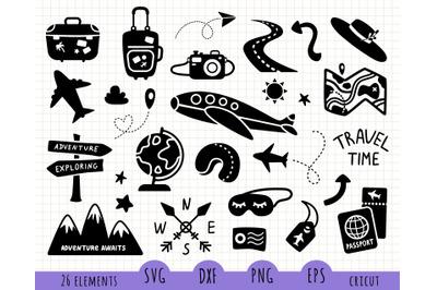 Travel SVG files set
