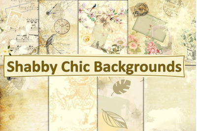 Shabby Chic Cream Backgrounds, Journal Pages
