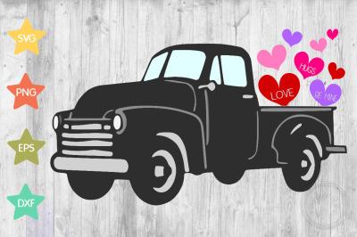 Vintage truck Valentine SVG design