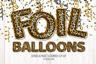 Leopard Foil Balloon Alphabet Clipart