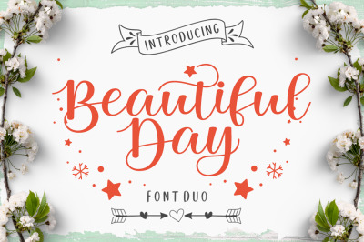 Beautiful Day Script Font DUO