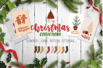 Christmas Graphic Collection Element Cards Pattern