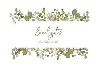 Eucalyptus Clipart, Green wreath, Wedding greenery