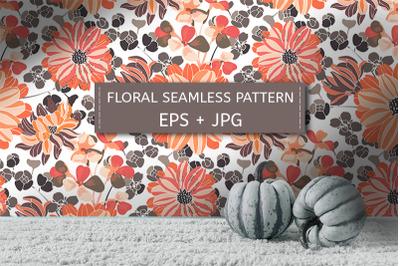 Simple chrysanthemums. Pattern.
