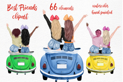 Girls clipart Girl illustrations Best Friends Mug designs